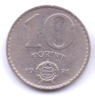 MAGYAR 1971: 10 Forint, KM 595 - Hungría