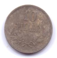 MAGYAR 1915: 10 Filler, KM 496 - Hungría