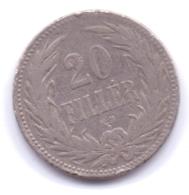 MAGYAR 1893: 20 Filler, KM 483 - Hungría