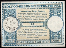 BRITISH POSTMOROCCO /MAROC Lo15A9d. InternationalReply Coupon Reponse AntwortscheinIAS IRC O TANGIER 15.07.54 - Maroc (1956-...)