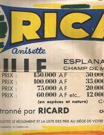 Affiche Ricard-lille-esplanade-14-07-1972-championnat National De Pétanque-dim0.50x0.65cm - Publicités