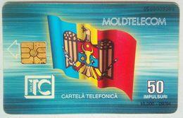 50 Units Moldova Flag, Statue Reverse - Moldavie