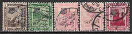 1922 EGYPT SET OF 5 USED STAMPS (Michel # 69,72-74) CV €2.80 - Egypt