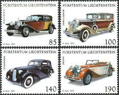 LIECHTENSTEIN Voitures Anciennes 4v 14 Neuf ** MNH - Liechtenstein