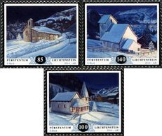 LIECHTENSTEIN Noël 2014 -Eglises 3v  Neuf ** MNH - Liechtenstein