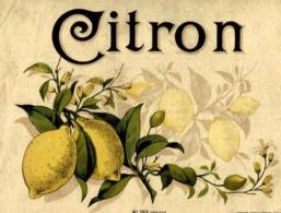 Publicité Citron N°763 - Etiquettes