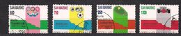San Marino Saint-Marin 1989 Yvertn° 1206-1209 (°) Used Cote 4,75  € Sport - Saint-Marin