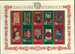 1996, Blockausgabe 1000 Jahre Österreich - 5 Gestempelte Exemplare Michel 125,- - Unclassified