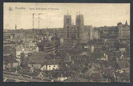 +++ CPA - BRUSSEL - BRUXELLES - Eglise Ste Gudule Et Panorama - Nels   // - Bruxelles-ville