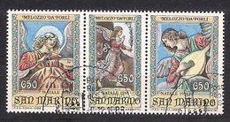 San Marino Saint-Marin 1988 Yvertn° 1198-1200 (°) Used Cote 4,50  € Noël Kerstmis Christmas - Saint-Marin