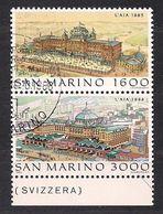 San Marino Saint-Marin 1988 Yvertn° 1196-1197 (°) Used Cote 7,50  € - Saint-Marin