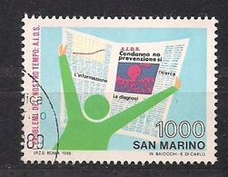 San Marino Saint-Marin 1988 Yvertn° 1192 (°) Used Cote 2  € - Saint-Marin
