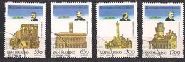 San Marino Saint-Marin 1988 Yvertn° 1181-1184 (°) Used Cote 6  € L 'Université Bologna - Saint-Marin