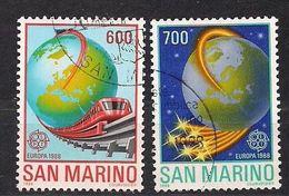 San Marino Saint-Marin CEPT 1988 Yvertn° 1181-1184 (°) Used Cote 12,50  € - Saint-Marin