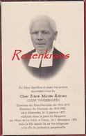 Pastoor Pretre Frere Mares-Adrien Louis Vingerhoets Moerzeke Mont La Salle Ciney Doodsprentje Bidprentje Image Mortuaire - Images Religieuses