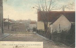 EVERE : Vieille Route De Cologne, Vue Sue Les Fortifications  - Cachet Poste 1906 - Evere
