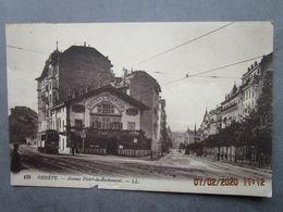 """CPA Suisse Ge  GENEVE  - Avenue Pictet Rochemont  """" Hôtel Du Simplon """" Le Tramway à Perche - écrite Et Timbrée 1917 - GE Genève"""