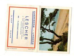 Petit Calendrier 1968 Chemiserie - Lingerie Lescher Clermont-Ferrand - Format:6.5x9cm - Calendriers