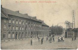 23. - MONCEAU-SUR-SAMBRE : Rue De Trazegnies (Gare) - Charleroi