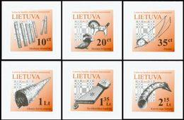 LITUANIE Instruments De Musique 6v Adh. Neuf ** MNH - Lituanie