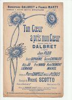 PARTITION TON COEUR A PRIS MON COEUR L.Digoude-Diodet Editeur En 1907 - Noten & Partituren
