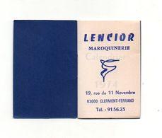 Petit Calendrier Almanach Pour 1974 Lencior MaroquinerieClermont-Ferrand - Format:8x5cm - Calendriers