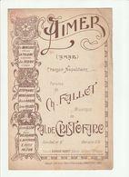 PARTITION AIMER Paroles De Ch. FALLOT L.Digoude-Diodet Editeur - Noten & Partituren