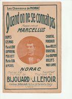 PARTITION QUAND ON NE SE CONNAIT PAS Chanson Créée Par MARCELLUS - Noten & Partituren