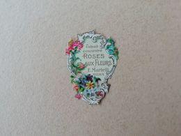 étiquette Ancienne Extrait Concentré Roses Aux Fleurs E. Martelli, Milan ( Parfum ) ( Flacon Ancien ) - Etichette