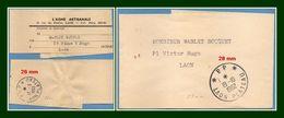Bande Journal Laon Plateau 02 L' Aisne Artisanale Type A7 P.P. 1953 (26 Mm) + A7 P.P. 1962 (28 Mm) - Periódicos