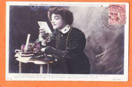 Art514 Poses De Melle Berthe BODY Théatre SARAH-BERNHARDT Première Missive 1906 à Henri BERNET Castres - Théâtre