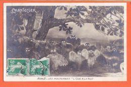 Art519 Coq CHANTECLER Les NOCTURNES Hiboux L' ODE A LA NUIT Acte II Edmond ROSTANG 1910 ELD E.L.D LE DELEY - Théâtre