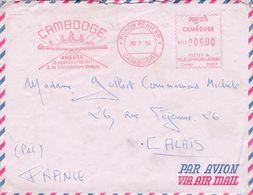 Lettre Phnom Pehn>Calais 1954 - Cambodge
