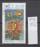 103K1818 / 1974 - Michel Nr. 763 Used ( O ) Chrysanthemum Chrysanthemen - Flowers Fleurs Blumen , North Vietnam Viet Nam - Vietnam