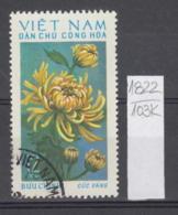 103K1822 / 1974 - Michel Nr. 764 Used ( O ) Chrysanthemum Chrysanthemen - Flowers Fleurs Blumen , North Vietnam Viet Nam - Vietnam