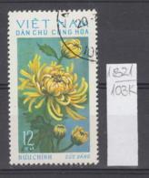 103K1821 / 1974 - Michel Nr. 764 Used ( O ) Chrysanthemum Chrysanthemen - Flowers Fleurs Blumen , North Vietnam Viet Nam - Vietnam