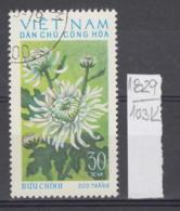 103K1829 / 1974 - Michel Nr. 766 Used ( O ) Chrysanthemum Chrysanthemen - Flowers Fleurs Blumen , North Vietnam Viet Nam - Vietnam
