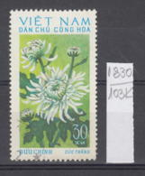 103K1830 / 1974 - Michel Nr. 766 Used ( O ) Chrysanthemum Chrysanthemen - Flowers Fleurs Blumen , North Vietnam Viet Nam - Vietnam