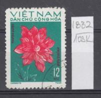 103K1832 / 1974 - Michel Nr. 756 Used ( O ) Dahlia Dahlien - Flowers Fleurs Blumen , North Vietnam Viet Nam - Vietnam