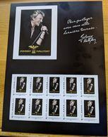 France, 2009, Collector -  Johnny Hallyday, Sheet 10 V, MNH - Collectors