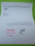 Certificat De Stage Agricole/ Coopérative Les Jeunes Bovins De Champagne/ REIMS /JP DUVAL/ 1969  DIP225 - Diploma & School Reports