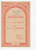 PARTITION TRISTESSE Paroles De Georges MARTEL Musique De FREDERIC CHOPIN - Noten & Partituren
