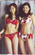 Télécarte Japon * EROTIQUE (6628) ASAHI KASEI *  EROTIC PHONECARD JAPAN * TK * BATHCLOTHES * FEMME SEXY LADY LINGERIE - Mode
