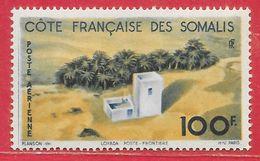 Côte Française Des Somalis PA N°21 (100F Jaune & Bleu-gris 1947 * - Nuevos