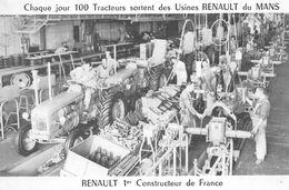 Le MANS - Chaque Jour 100 Tracteurs Sortent Des Usines Renault - Le Mans