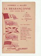 PARTITION LA BRABANCONNE Hymne National Belge HYMNES Des ALLIES - Noten & Partituren