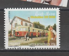 "FRANCE / 2014 / Y&T N° AA 1002 : ""Trains"" (Micheline - Haute-Vienne) - Choisi - Cachet Rond - Luchtpost"