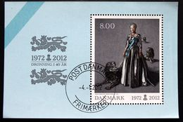 Denmark 2012   MiNr.1691 Block 47   (o) Queen Margrete II 40 Years Jubilee. ( Lot  Mappe ) - Used Stamps
