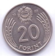 MAGYAR 1989: 20 Forint, KM 630 - Hungría