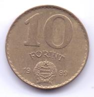 MAGYAR 1989: 10 Forint, KM 636 - Hungría